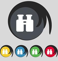 Binocular search find information icon sign symbol vector