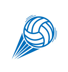 Blue volleyball move vector