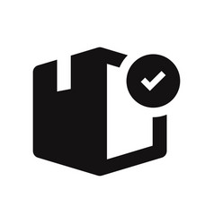 box with checked icon vector image