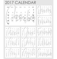 Calendar 2017 - template vector image