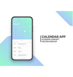 Calendar app ui concept vector
