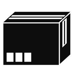 Carton box icon simple style vector