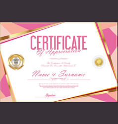 Certificate retro design template 03 vector