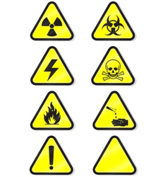 chemical warning vector image