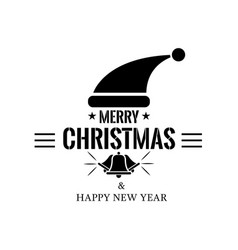 christmas label or logo with typography christmas vector image