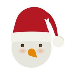 Christmas snowman icon vector