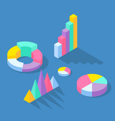 colorful business statistics elements for vector image