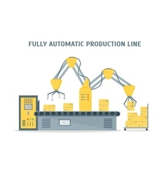 Conveyor Fully Automatic Production Line vector image