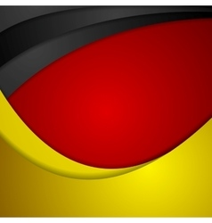 Corporate wavy bright abstract background German vector