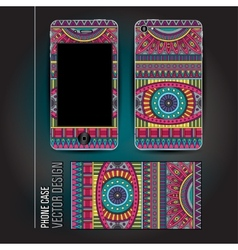 Cover smartphone abstract ethnic background vector