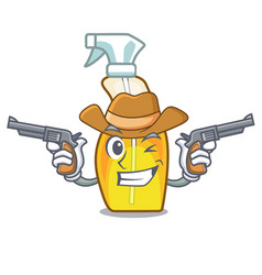 Cowboy bottle spray in the character form vector