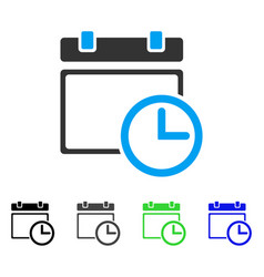 Date and time flat icon vector
