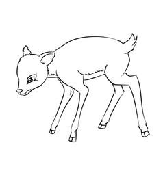deer rat cartoon - line drawn vector image
