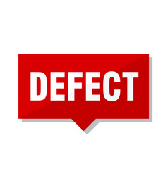 Defect red tag vector