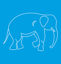 Elephant icon outline style vector