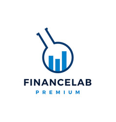 finance lab logo icon vector image