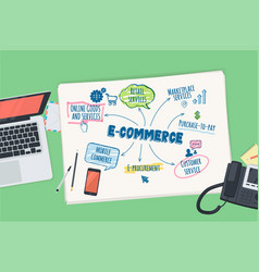 flat design concept for e-commerce vector image