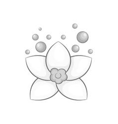 Flower icon black monochrome style vector image