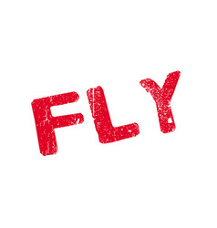 fly rubber stamp vector image