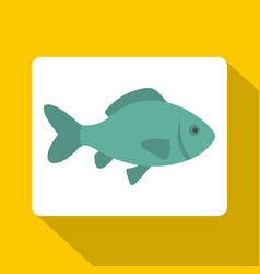 Fresh raw fish icon flat style vector