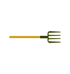 Garden pitchfork isolated icon vector