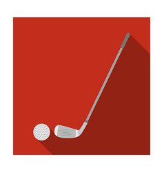 Golf icon in flat style isolated on white vector