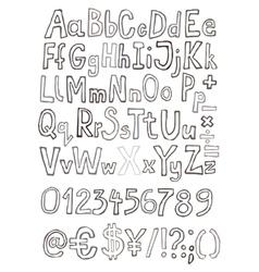 Grunge letter set vector