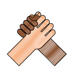 hand shake isolated icon vector image