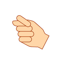 hand showing different fist gestures hand thumb vector image