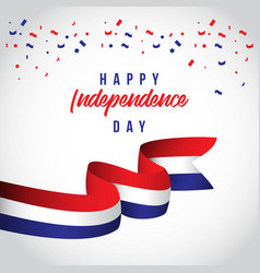 Happy netherlands independent day template design vector