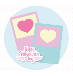 happy valentines day romantic hearts love cards vector image