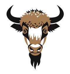 head of bison vector image