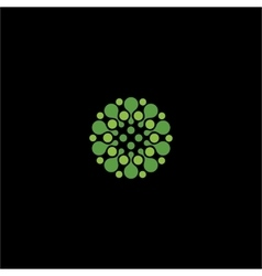 Isolated abstract green color flower logo vector