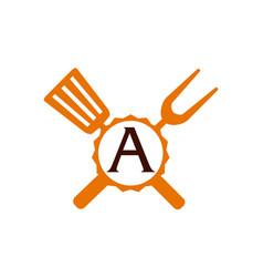 Logo restaurant letter vector