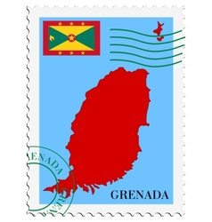 mail to-from Grenada vector image
