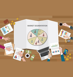 Market marketing segmentation with people group vector