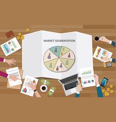 market marketing segmentation with people group vector image