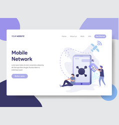 Mobile network concept vector
