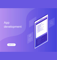 Mobile web development concept mobile app vector