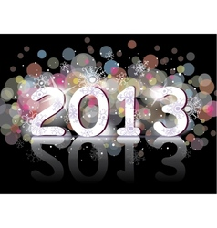 New year 2013 two thousand and thirteen vector