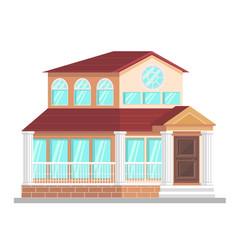 official building facade flat vector image