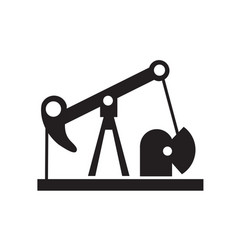 Oil well silhouette industrial facility logo urban vector