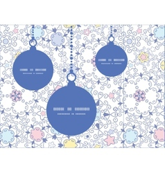 Ornamental abstract swirls Christmas ornaments vector
