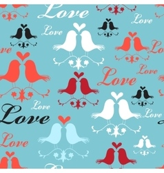 Pattern of lovers birds vector image