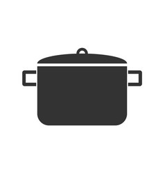 pot icon flat vector image