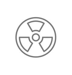 radiation hazard sign line icon vector image