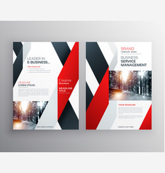 Red black geometric shape business flyer poster vector