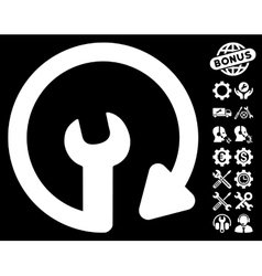 Repeat Service Icon with Tools Bonus vector