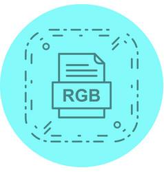 Rgb file document icon vector