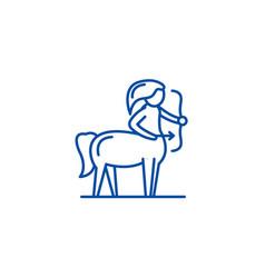 sagittarius zodiac sign line icon concept vector image